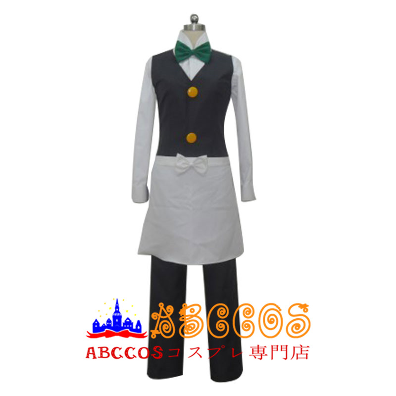 画像1: ポケットモンスター ウェーター スタッフ グリーン コスプレ衣装  abccos製 「受注生産」 (1)
